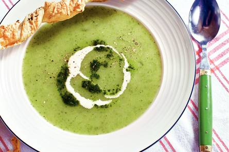 Courgette suppe med ost